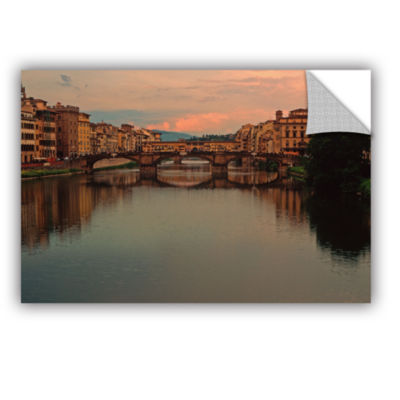 Brushstone Ponte Vecchio Reflections Removable Wall Decal