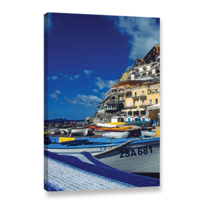 Brushstone Positano's Colorful Boats Gallery Wrapped Canvas Wall Art