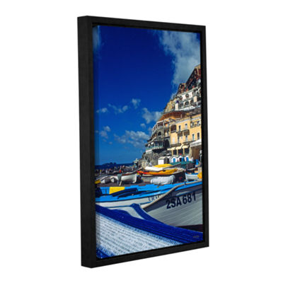 Brushstone Positano's Colorful Boats Gallery Wrapped Floater-Framed Canvas Wall Art