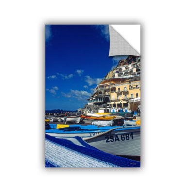 Brushstone Positano's Colorful Boats Removable Wall Decal