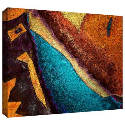 Brushstone Retrograde Gallery Wrapped Canvas WallArt