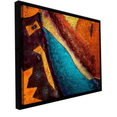 Brushstone Retrograde Gallery Wrapped Floater-Framed Canvas Wall Art