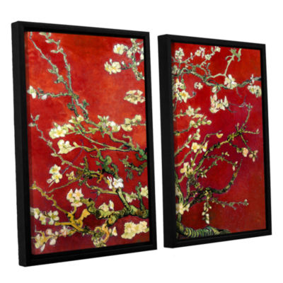 Brushstone Red Blossoming Almond Tree 2-pc. Floater Framed Canvas Wall Art