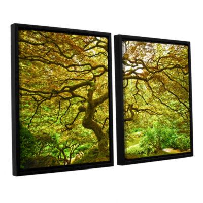 Brushstone Portland Japanese Garden 1 2-pc. Floater Framed Canvas Wall Art