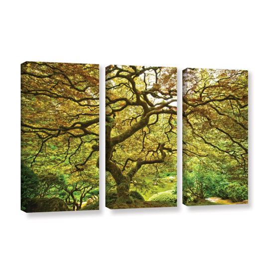 Brushstone Portland Japanese Garden 1 3-pc. Gallery Wrapped Canvas Wall Art
