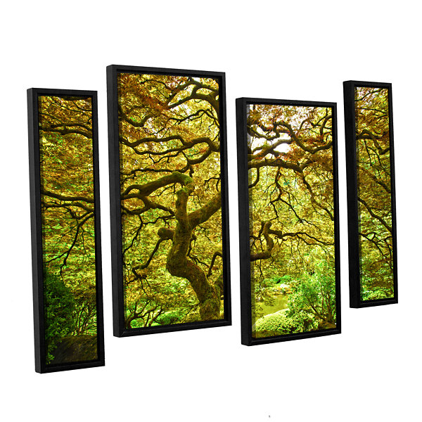 Brushstone Portland Japanese Garden 1 4-pc. Floater Framed Staggered ...