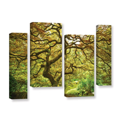 Brushstone Portland Japanese Garden 1 4-pc. Gallery Wrapped Staggered Canvas Wall Art