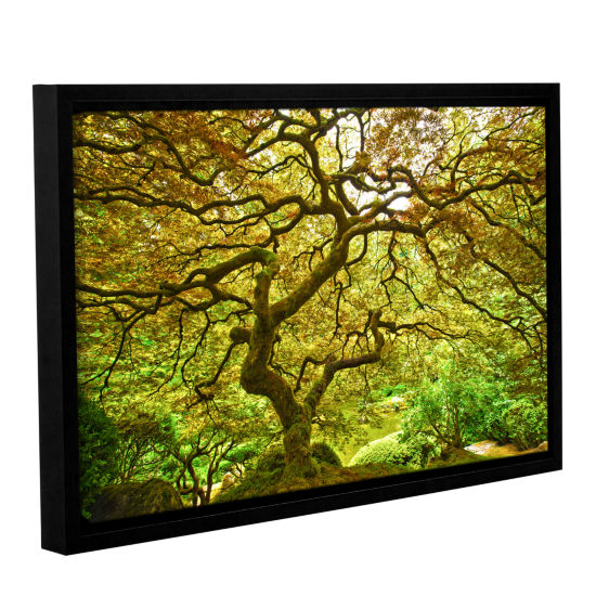 Brushstone Portland Japanese Garden 1 Gallery Wrapped Floater-Framed Canvas Wall Art