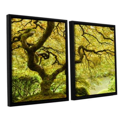 Brushstone Portland Japanese Garden 2 2-pc. Floater Framed Canvas Wall Art