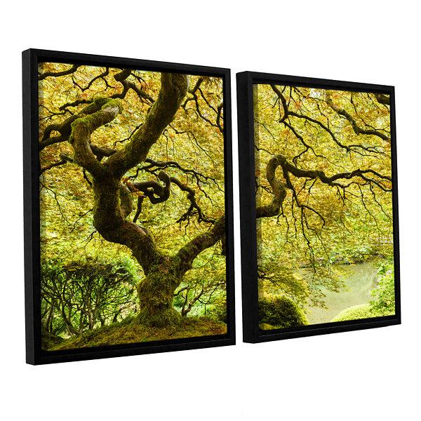 Brushstone Portland Japanese Garden 2 2-pc. Floater Framed Canvas ...