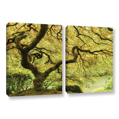 Brushstone Portland Japanese Garden 2 2-pc. Gallery Wrapped Canvas Wall Art