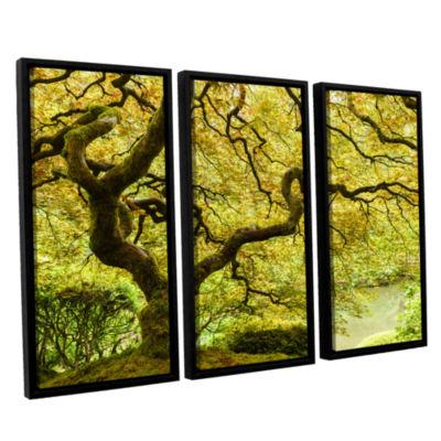 Brushstone Portland Japanese Garden 2 3-pc. Floater Framed Canvas Wall Art