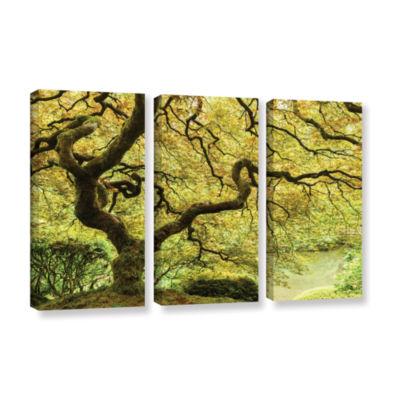 Brushstone Portland Japanese Garden 2 3-pc. Gallery Wrapped Canvas Wall Art