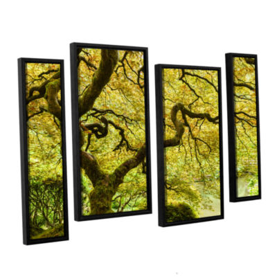 Brushstone Portland Japanese Garden 2 4-pc. Floater Framed Staggered Canvas Wall Art