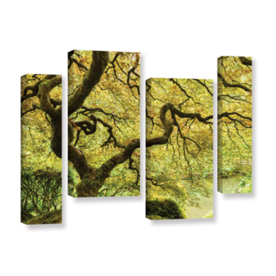 Brushstone Portland Japanese Garden 2 4-pc. Gallery Wrapped Staggered Canvas Wall Art
