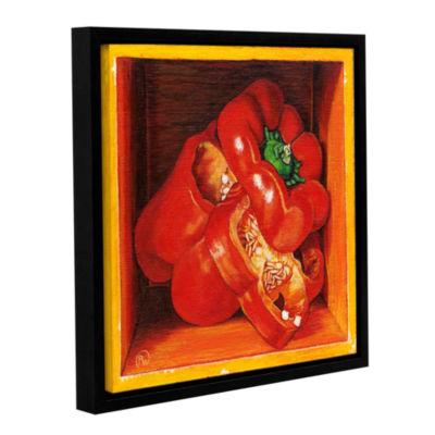 Brushstone Redbell Gallery Wrapped Floater-FramedCanvas Wall Art