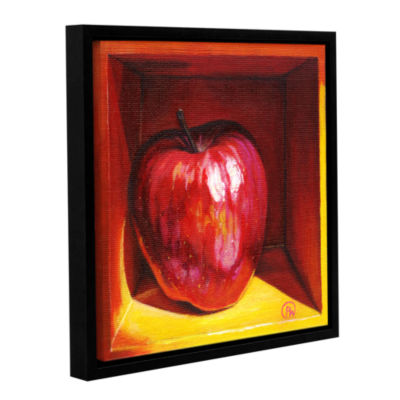 Brushstone Red Delicious Gallery Wrapped Floater-Framed Canvas Wall Art