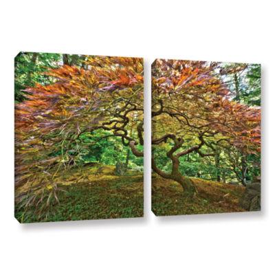 Brushstone Portland Japanese Garden 3 2-pc. Gallery Wrapped Canvas Wall Art