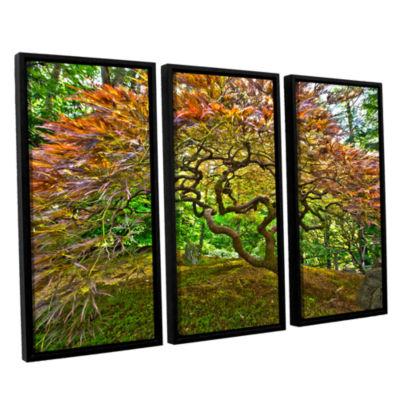 Brushstone Portland Japanese Garden 3 3-pc. Floater Framed Canvas Wall Art