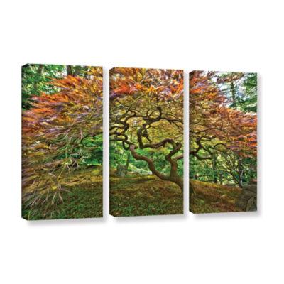 Brushstone Portland Japanese Garden 3 3-pc. Gallery Wrapped Canvas Wall Art