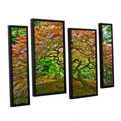 Brushstone Portland Japanese Garden 3 4-pc. Floater Framed Staggered Canvas Wall Art