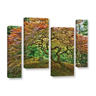 Brushstone Portland Japanese Garden 3 4-pc. Gallery Wrapped Staggered Canvas Wall Art