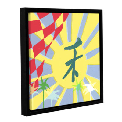 Brushstone Rising Sun Gallery Wrapped Floater-Framed Canvas Wall Art