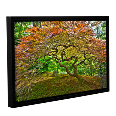 Brushstone Portland Japanese Garden 3 Gallery Wrapped Floater-Framed Canvas Wall Art
