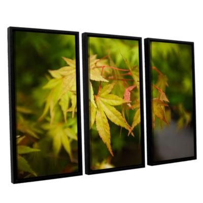 Brushstone Portland Japanese Garden 4 3-pc. Floater Framed Canvas Wall Art
