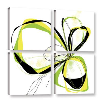 Brushstone Ribbons 2 4-pc. Square Gallery WrappedCanvas Wall Art