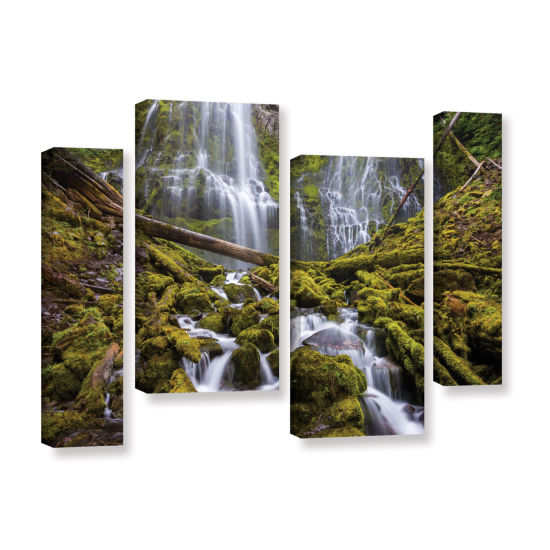 Brushstone Proxy Falls Oregon 1 4-pc. Gallery Wrapped Staggered Canvas Wall Art