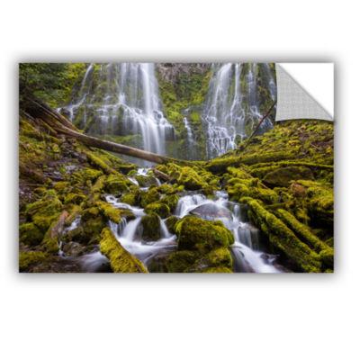 Brushstone Proxy Falls Oregon 1 Removable Wall Decal