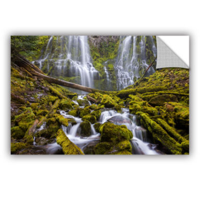 Brushstone Proxy Falls Oregon 1 Removable Wall Decal
