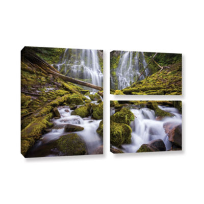 Brushstone Proxy Falls Oregon 2 3-pc. Flag GalleryWrapped Canvas Wall Art