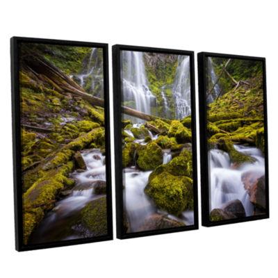 Brushstone Proxy Falls Oregon 2 3-pc. Floater Framed Canvas Wall Art
