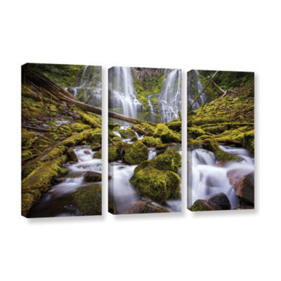Brushstone Proxy Falls Oregon 2 3-pc. Gallery Wrapped Canvas Wall Art