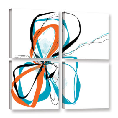 Brushstone Ribbons 4-pc. Square Gallery Wrapped Canvas Wall Art