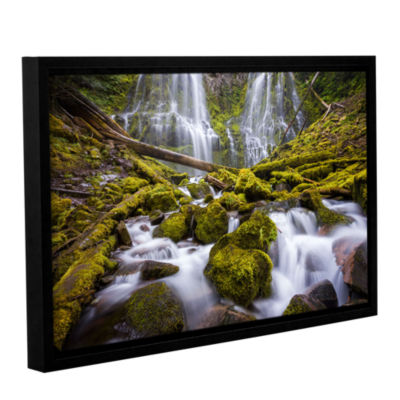 Brushstone Proxy Falls Oregon 2 Gallery Wrapped Floater-Framed Canvas Wall Art