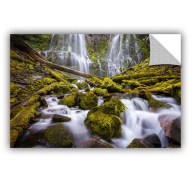 Brushstone Proxy Falls Oregon 2 Removable Wall Decal