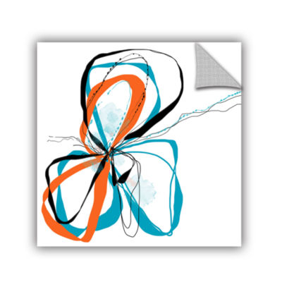 Brushstone Ribbons Removable Wall Decal