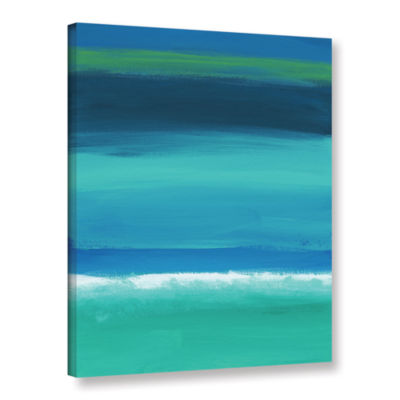 Brushstone Rolling Tide I Gallery Wrapped Canvas Wall Art