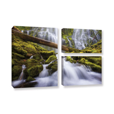 Brushstone Proxy Falls Oregon 3 3-pc. Flag GalleryWrapped Canvas Wall Art