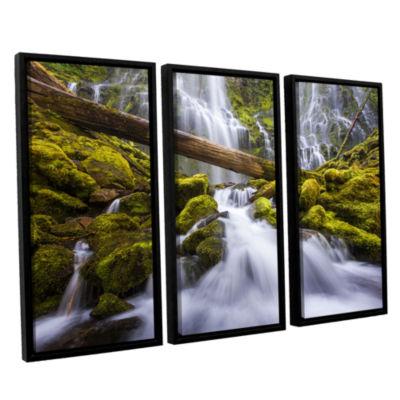Brushstone Proxy Falls Oregon 3 3-pc. Floater Framed Canvas Wall Art