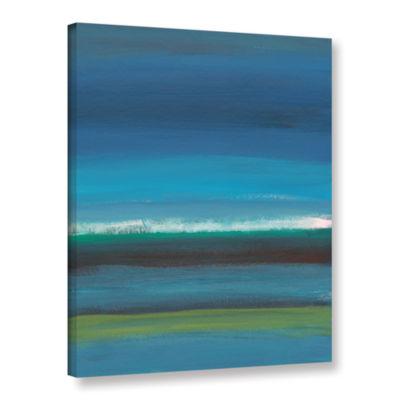 Brushstone Rolling Tide II Gallery Wrapped CanvasWall Art