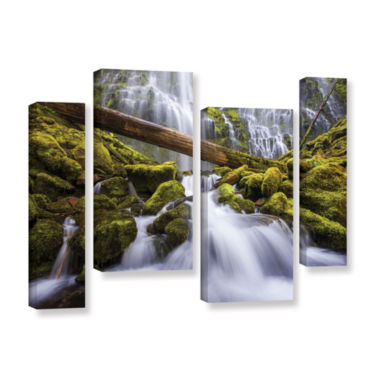 Brushstone Proxy Falls Oregon 3 4-pc. Gallery Wrapped Staggered Canvas Wall Art