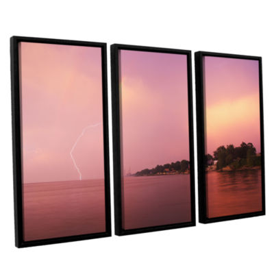 Brushstone Rainbows And Lightning 3-pc. Floater Framed Canvas Wall Art