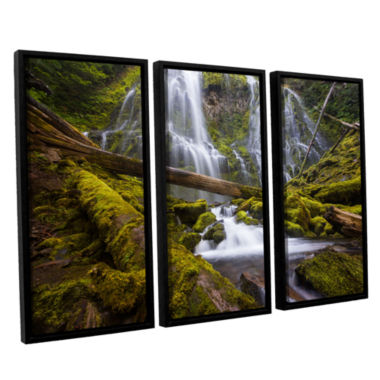 Brushstone Proxy Falls Oregon 4 3-pc. Floater Framed Canvas Wall Art
