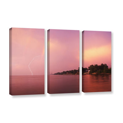 Brushstone Rainbows And Lightning 3-pc. Gallery Wrapped Canvas Wall Art