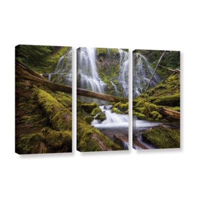 Brushstone Proxy Falls Oregon 4 3-pc. Gallery Wrapped Canvas Wall Art