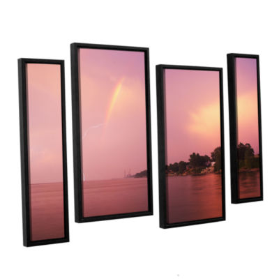 Brushstone Rainbows And Lightning 4-pc. Floater Framed Staggered Canvas Wall Art